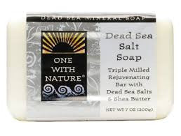 One With Nature Dead Sea Mineral Dead Sea Salt Soap - 7 oz - Pack of 6