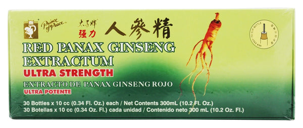 Prince of Peace - Red Panax Ginseng Extractum Ultra Strength 400 mg. - 30 Vial(s)