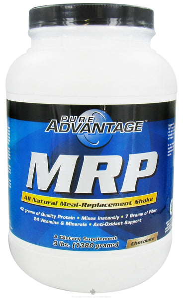 Pure Advantage - MRP All Natural Meal-Replacement Shake Chocolate Flavor - 3 lbs.