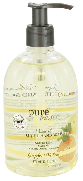 Pure & Basic - Natural Liquid Hand Soap Grapefruit Verbena - 12.5 oz.
