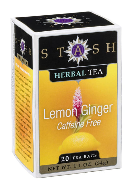 Stash Tea Lemon Ginger Herbal Tea 20 Tea Bags