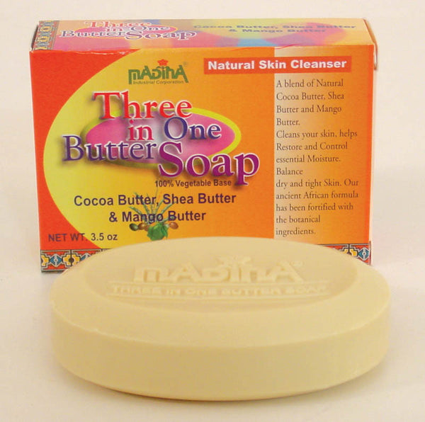 Madina Three In One Butter Bar Soap 3.5 oz