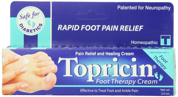 Topricin Foot Therapy Cream, 2 Ounce