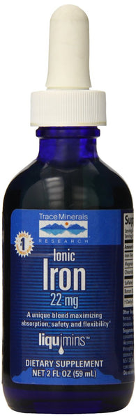Trace Minerals Research Liquid Ionic Iron 22mg - 2 oz.