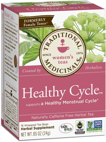 Traditional Medicinals Healthy Cycle Tea, 16 Tea Bags