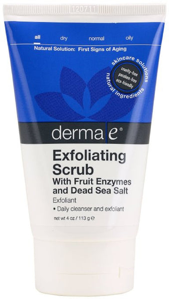 Derma e Natural Bodycare Fruit Enzyme Facial Scrub, 4-Ounce Tubes