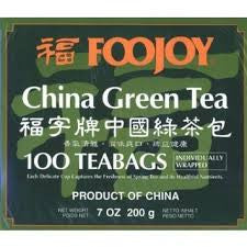 Foojoy China Green Tea, 2g X 100 Teabags by A2AWorld Green Tea