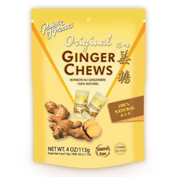 Prince of Peace 100% Natural Original Ginger Candy Chews 4 oz