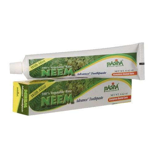 Madina 100% Vegetable Base Neem Advance Toothpaste 6.42oz with Mint