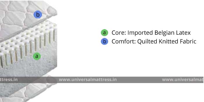Springair Natures Rest - 6 inches - mattress - india - cross section