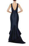 Ecletic navy blue gown