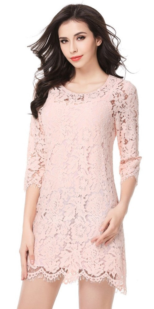 Lace perspective mini dress