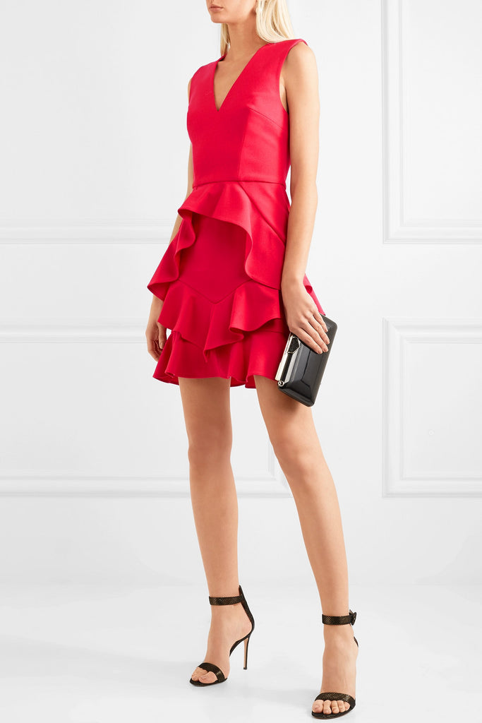 V ruffled dress