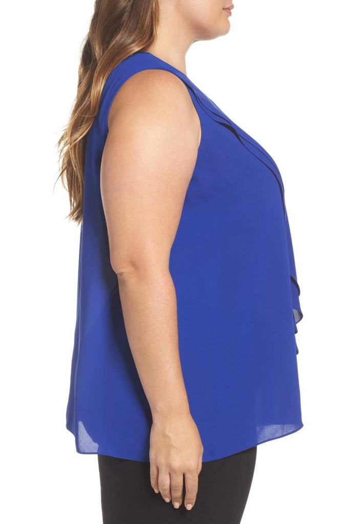 Front double overlay top