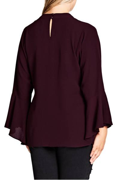Neck strap bell sleeve  top