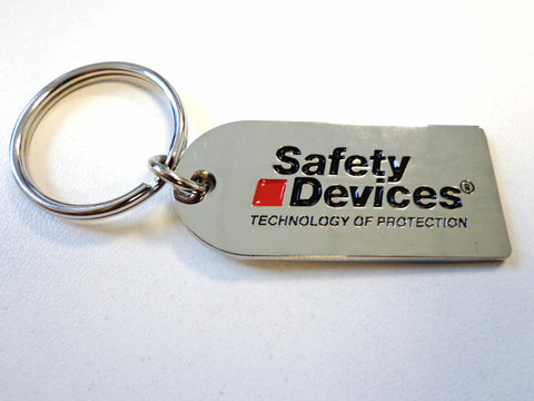 Safety Devices Die-cast keyring