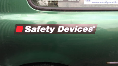 490×60mm Safety Devices Large Stickers