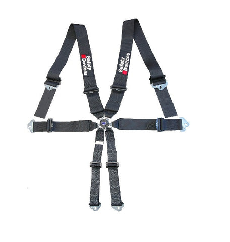 FIA-approved 6-point super-lightweight harness