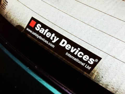 200×40mm Safety Devices Window Stickers