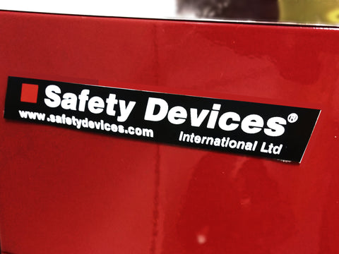100 ×15mm Safety Devices Small Sticker