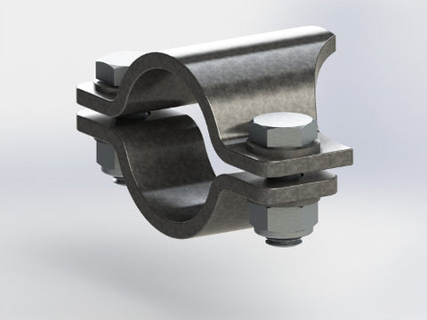 Saddle-bracket clamp joint