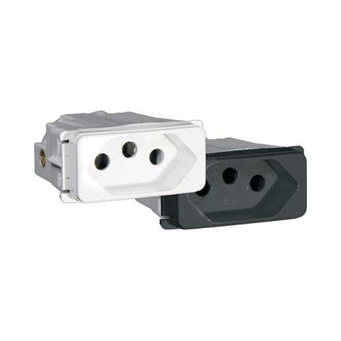 16A V-Slim 3 Pin Socket Outlet Module
