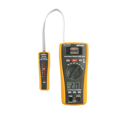2-in-1 LAN Tester and Digital Multimeter