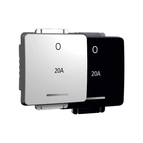 20A Double Pole Switch Module - Wide