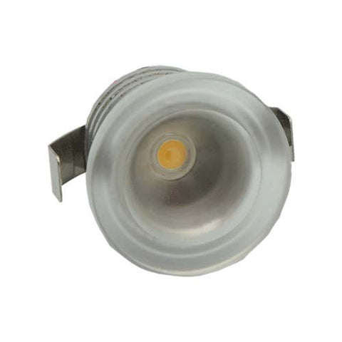 B4CA 1W Round Clear Acrylic LED Ceiling Light Cool White - 22mm Cut Out