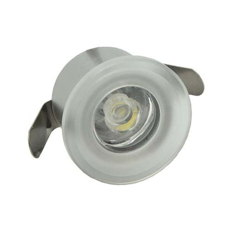 B4CA 1W Round Clear Acrylic LED Ceiling Light - 28mm Cut Out
