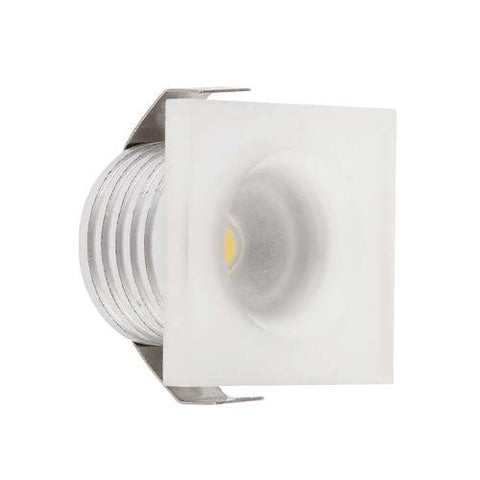 B4FA 1W Square Clear Acrylic LED Ceiling Light - 22mm Cut Out