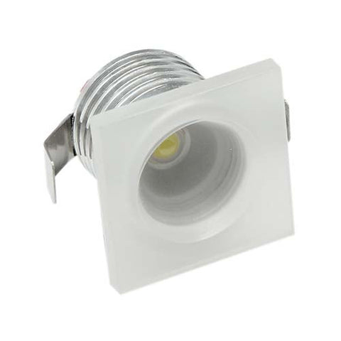 B4FA 1W Square Clear Acrylic LED Ceiling Light - 32mm Cut Out
