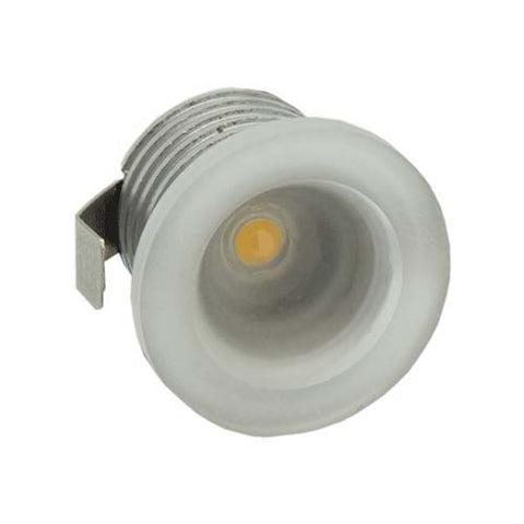 B4FA 1W Round Frosted Acrylic LED Ceiling Light Cool White - 22mm Cut Out