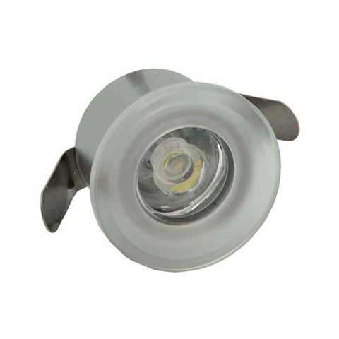 B4FA 1W Round Frosted Acrylic LED Ceiling Light - 28mm Cut Out