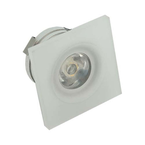 B4FA 1W Square Frosted Acrylic LED Ceiling Light - 32mm Cut Out