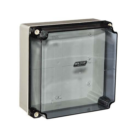 Clear IP65 Enclosure - 200mm x 200mm x 100mm