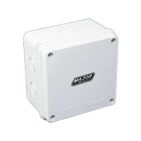 IP55 Junction Box with Knock Outs - 100mm x 100mm x 70mm