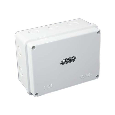 IP55 Junction Box with Knock Outs - 150mm x 110mm x 70mm