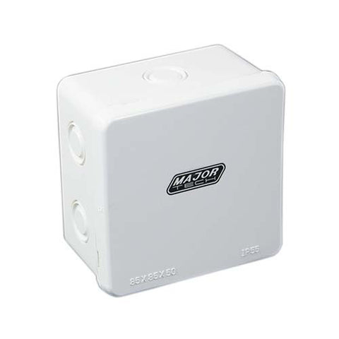 IP55 Junction Box with Knock Outs - 85mm x 85m x 50mm