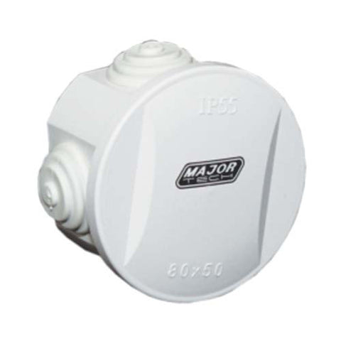 IP55 Junction Box with Rubber Gland - 80mm x 50mm