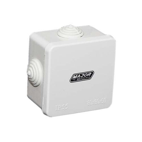 IP55 Junction Box with Rubber Gland - 80mm x 80mm x 50mm