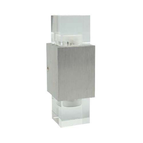 W1 2 x 1W Trimmed Column LED Wall Light