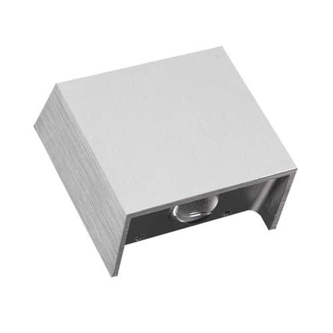 W1 2 x 1W Two Way 30° LED Wall Light - Cool White