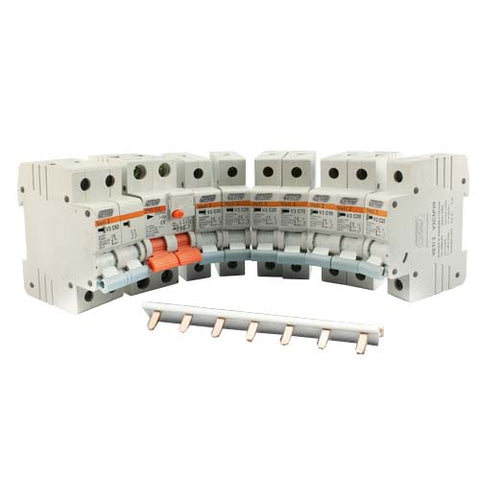 Mini Circuit Breaker Kit DIN Rail 3kA
