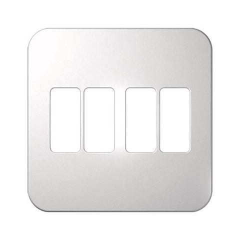 Four Single Module Vertical Cover Plate 4 x 4