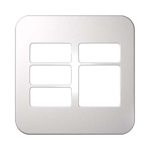 Five Module Cover Plate (4 Single, 1 Double) 4 x 4