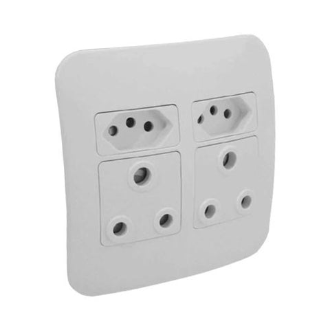 16A Double RSA with 16A Double RSA V-Slim Sockets Complete
