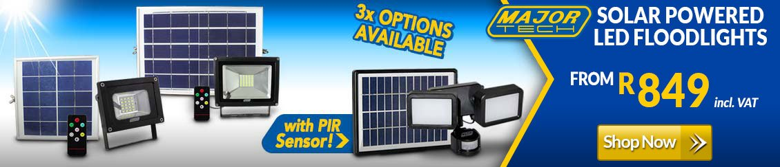 Major Tech Solar Powered Floodlights - Shop Online