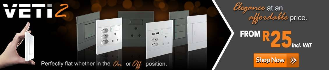 VETi Switches & Sockets Suppliers | Major Tech Lighting & Tools