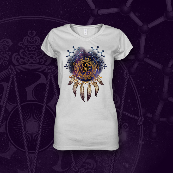 DMT Dream catcher psychedelic white t-shirt